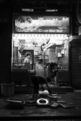 After the midnight work in Mong Kok, Hong Kong (Job Homeless) Tags: people hongkong x10 fujifilm streetsnap streetphotography blackandwhite monochorme urban city