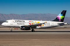 XA-VOH - Airbus A319-133 - Volaris (Bjoern Schmitt) Tags: xavoh volaris airbus a319133 cn 3253 319 a319 special stickers las klas lasvegas arrival livery landing
