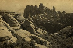 Los Andes Cordillera (stempel*) Tags: gambezia pentax k30 50mm catalona katalonia hiszpania vintage postcards montserrat