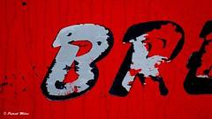 Red - Fishing boat marking (patrick_milan) Tags: rouge noir red black bateau ship boat voilier pêche sailing fishing iroise ocean port harbour quay quai buoyant buoy saariysqualitypictures rope cordage aussière accastillage bouée flotteur hublot porthole bout taquet latch poulie pulley réa palan cloche bell hawser compass hélice propeller rudder safran gouvernail snap hook mousqueton manille shackle