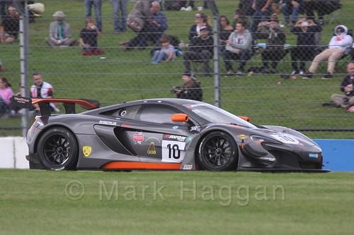 The Von Ryan Racing McLaren of Ross Wylie and Andrew Watson in British GT Racing at Donington, September 2015