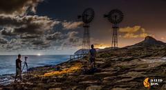CAPTANDO EL MOMENTO (David Ros Photography) Tags: espaa noche playa panoramic luna panoramica nubes estrellas nocturna cartagena molinos startrail largaexposicion calblanque circumpolar fotografianocturna samyang canon6d davidros