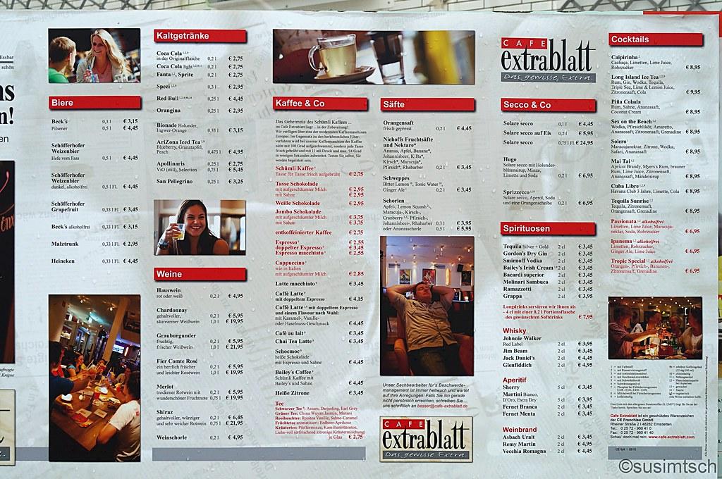 Cafe Extrablatt Essen Preise