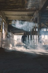 Urban exploration (Oliver Astrologo) Tags: portrait roma abandoned architecture zeiss industrial smoke sony indoor explore onexplore flagged a7ii 3528 explored vsco sonnartfe3528 a7mk2
