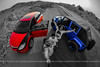Brothers (dr.7sn Photography) Tags: blue red car jeep hydro polar mazda 2009 عين و wrangler 2014 redblack تصوير تصويري اسود ازرق cx9 احمر نيكون ابواب ببسي السمكة جيب معدل اربعة مازدا احترافي رانجلر