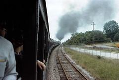 Norfolk Southern Steam Excursion Train / P1983-0605a073-24 (Tim and Renda) Tags: tracks railroads steamlocomotives stateofalabama fortpaynealabama dekalbcountyalabama norfolksouthernrailroad 484steamlocomotives norfolkandwesternrailroad trainexcursions passengertraincars rolla073 nwj611steamlocomotive formatfilm35mmnegative alabamacountydekalb norfolksouthernrailroadsteamexcursionprogram year1983pictures canonae1program2067283 cameracanonae1program nwsteamlocomotivej611 norfolkandwesternrailroadsteamlocomotives aboardexcursiontrains aboardjune5th1983excursiontrain birminghamchattanoogatrainexcursion198306 alabamacityfortpayne