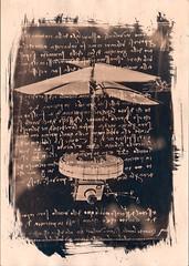 Leonardo Da Vinchi & the drone (Nagy Krisztian) Tags: negative da wetplate cyanotype drone vinchi collodion leonatdo