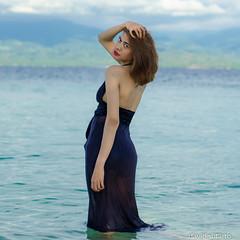 in to the sea (david sutarto) Tags: beach female dj sulawesi tanjung karang fdj tengah