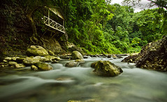 Bahoruco landscape (Vctor Ml. Fernndez) Tags: longexposure naturaleza green nature photoshop canon river photography photo dominicanrepublic tripod rocas manfrotto caribe eos7d hoyandx400