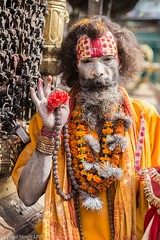 Sadhu (lyndakmorris) Tags: temple monkey kathmandu sadhu swayambhu sadu swayambhunath nepal2015