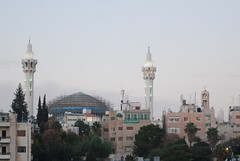 King Abdullah Mosque and Coptic Church - Abdali, Jebel Al-Weibdeh (jrozwado) Tags: church asia minaret amman mosque jordan orthodox coptic islamic