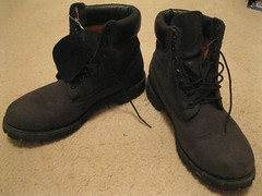 Black Timbs 3 (timbotims7) Tags: gay black hot sexy leather fetish boot floor boots pair sole laces timberland timberlands timbs nubuck