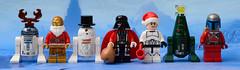 A Very Merry Star War's Lego Christmas (Andrew D2010) Tags: santa xmas snow starwars lego r2d2 stormtrooper c3p0 darthvader santahat droid chrismas hoth jangofett santasuit chrismastree
