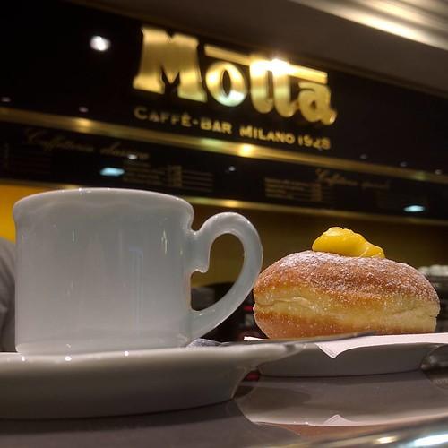 Last proper Italian coffee before I board my flight. #milan #linate #motta #lombardy #italy #travel #ShotOnAndroid #ShotOnNexus6P
