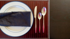 Orton is Served (LeftCoastKenny) Tags: table napkin knife plate placemat utata cloth 169 spoons thursdaywalk ortoneffect utata:description=hide shadowip utata:project=tw504
