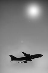 Winter departure ! (CJS*64) Tags: bw sun monochrome airplane mono blackwhite airport nikon jet nikkor dslr departure jumbo jetplane hols cjs wintersun whiteblack nikkorlens airpcraft d7000 nikond7000 18mm105mmlens craigsunter cjs64