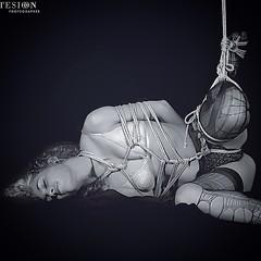 #tied #atada #cuerdas #black&white #bondage #shibari #tentension #fotografía #suriyake #model #redition #spansul #rigger #madrid #spain