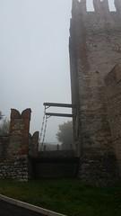 Drawbridge (SulfuricAstrid) Tags: italy castle fog drawbridge vicenza