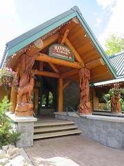 Manning Lodge (D70) Tags: manning lodge e c provincial park wood carvings posts ornate