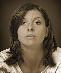 E.d.V. (Cristina Laugero) Tags: portrait sepia face viso primo piano