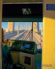 Making the Tilikum Crossing in @PDXStreetcar (AvgeekJoe) Tags: bridgeofthepeople d5300 dslr nikon nikond5300 oregon portland portlandstreetcar tilikumcrossing tilikumcrossingbridgeofthepeople unitedstreetcar willametteriver bridge cablestayedbridge masstransit streetcar transitbridge urbanrail unitedstates us
