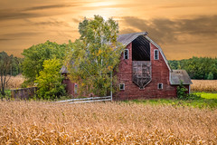 Golden Heritage (henryhintermeister) Tags: barns minnesota oldbarns clouds farming countryliving country sunsets storms sunrises pastures nostalgia skies outdoors seasons cambridgemn field