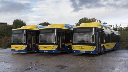 (066) Bus - Anglian - Man EcoCity - WX62 HHP, AU62 DWL, & AU62 DWG - Beccles