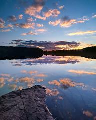 Crescent Lake, Southington, CT (crmanski) Tags: crescentlake southingtonct vertorama sunset