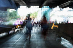 SouthBank (instagram.com/the_big_smoke_/) Tags: street streetphotography streetscene scene streetphoto shadows streets silhouettes sunlight southbank streetcandid streephoto blur longexposure colour color colours motion impressionism art artphotography robmchale london england britain people peoplewatching central city centre candid composition capture contrast compo comp candidcapture urban uk urbanstreets ramp bridge river thames amusements fairground
