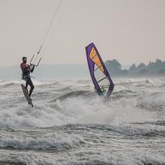 Lift of (astielau) Tags: brandung damp kitesurfing