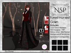 NSP Forest Harvest Gown V2 ([MUSE] & NSP Florals) Tags: enchantment hair gown wreath