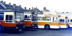 Slide 078-31 (Steve Guess) Tags: merthyr tydfil borough council bus south wales gb uk leyland leopard dennis dominator marshall lancet wadham stringer vanguard tudful