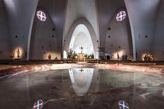 (ilConte) Tags: cologne colonia stengelbert dominikusbhm kln architettura architecture architektur chiesa kirche church reflection