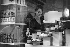 stimuli (Auteurian) Tags: streetphotography london shop cakeshop window store blackandwhite reflection
