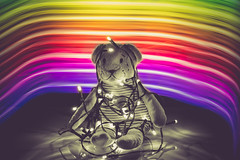 black and white in a multi-colored world - 332/366 (auntneecey) Tags: lightpainting rainbow blackandwhite 366the2016edition 3662016 day332366 27nov16 playing nothappywithitbut hss happysliderssunday
