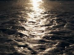 1 Gazing at Light on Waves (Mertonian) Tags: awe acedia melancholy hope wonder mixedmoods blues beauty terror fear mystery mixed sublime mertonian robertcolwishaw waves ocean beach dusk sunset reflection canon powershot g7x mark ii canonpowershotg7xmarkii light dark abstract