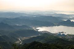 View from Jiufen, Taiwan (IHNIWIMD) Tags: ruifangdistrict newtaipeicity taiwan tw jiufen mountains haze fog sea water trees d7000 nikon sigma f28g 1750mm republic china
