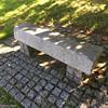 banc béton© (alexandrarougeron) Tags: herbe seul béton pavée pierre banc