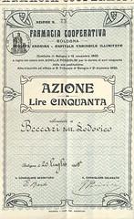 FARMACIA COOPERATIVA - BOLOGNA (scripofilia) Tags: 1906 azioni bologna cooperativa farmacia farmaciacooperativa