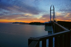 Gaudo Island (Pinetree1967) Tags: gangjincounty sunset bridge landscape seascape korea a850              sal2470z cloudscape bay sky