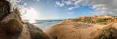 Tenerife summer times (Martin Zurek) Tags: tenerife spain canon beach panormama pano sun sunset sky clouds travel