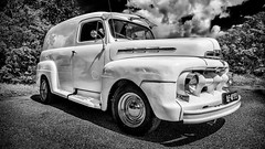 1951 Ford Panel Truck (Pieter de Knijff) Tags: ford panel truck 1951 classic car blackandwhite bw monochrome oldtimer holland netherlands dutch