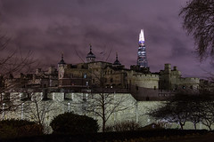 Shard over Tower of London, London, United Kingdom (virt_) Tags: london england unitedkingdom 2016 january winter trip trips travel travels uk londonunitedkingdom londonuk britain greatbritain gb tower toweroflondon shard night londonnight londonskyline