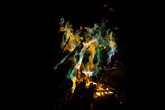Haunted Campfire (adamopal) Tags: canon canon5d canon5dmkiii canon5dmarkiii hauntedcampfire haunted night campfire lightdrawing lightpainting lightbending multicolor black yellow blue