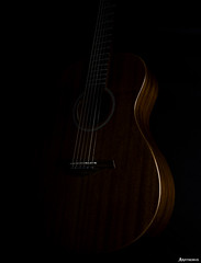An old friend of mine. (_Anathemus_) Tags: acoustic guitar low key nikon d750 mahogany