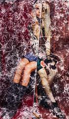found on the ground a73 (tonywoodphoto) Tags: select woman female figure magazine texture