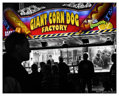 Food for All.... (GAPHIKER) Tags: giant corn dog bige hotdog lemonade lemon factory politics freshsqueezedlemonade food corndog symbolism faceless americans heartland biggestcorndogofall