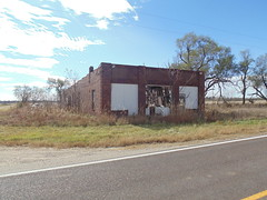 126. A ruined store building in Brantford, a Washington County Ghost Town, 11-5-16 (leverich1991) Tags: exploring kansas 2016 brantford ghost town washington store