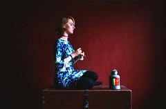 (Juliet Alpha November) Tags: lomography color negative 400 analogue analog film 35mm portrait portrt red dress kleid miss ketamin jan meifert matcha tea tee japanese