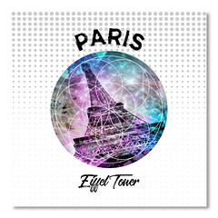 Graphic Art PARIS Eiffel Tower (american_flat) Tags: europe france paris eiffeltower latoureiffel architecture building attraction city landmark sight urban famous historic white dynamic decorative tilted double exposure classical typical abstract modern pop art colorful splashes pink cyan blue experimental composing montage digital pattern sun light graphic illustration geometric forms shape circle typography frankreich